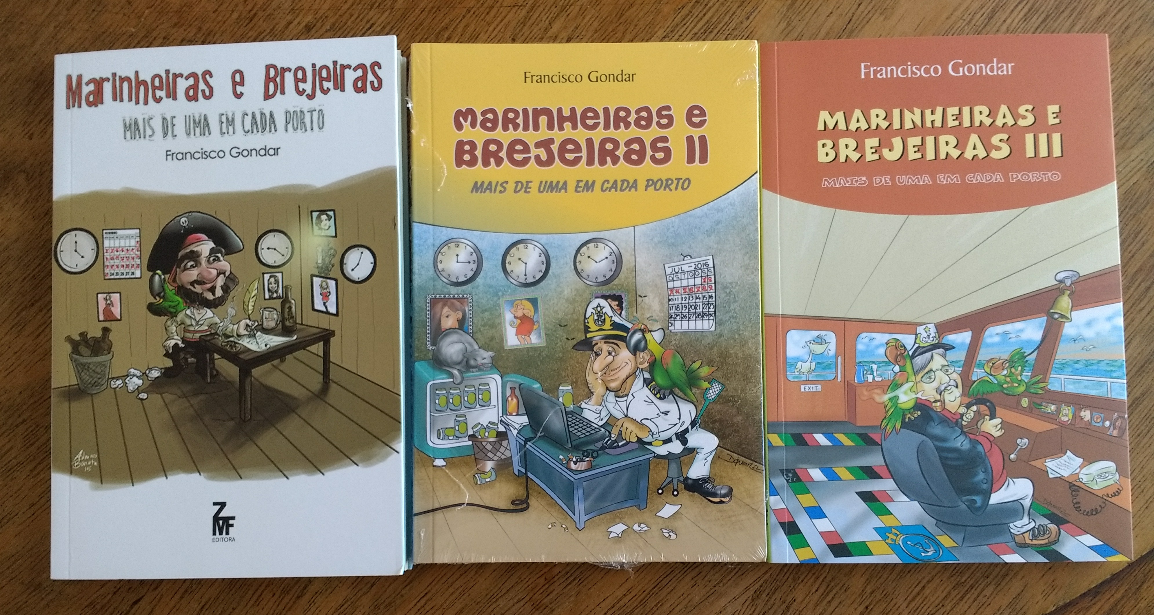 Capa dos Três Livros