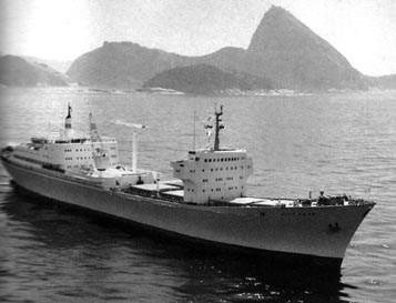 Navio Otto Hahm no Rio de Janeiro