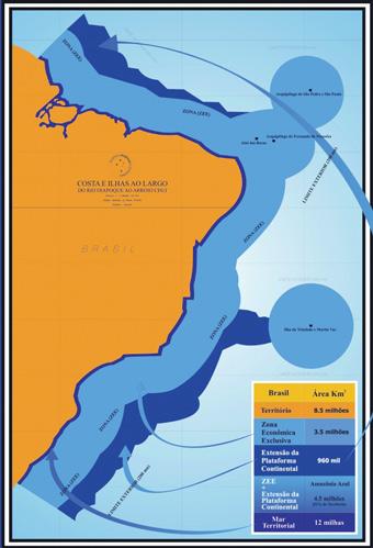 mapa da amazônia azul