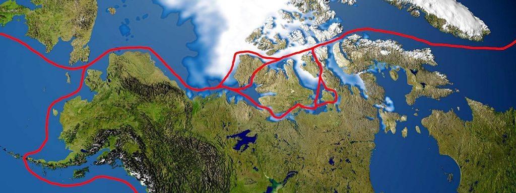 rota polar ilustração 1
