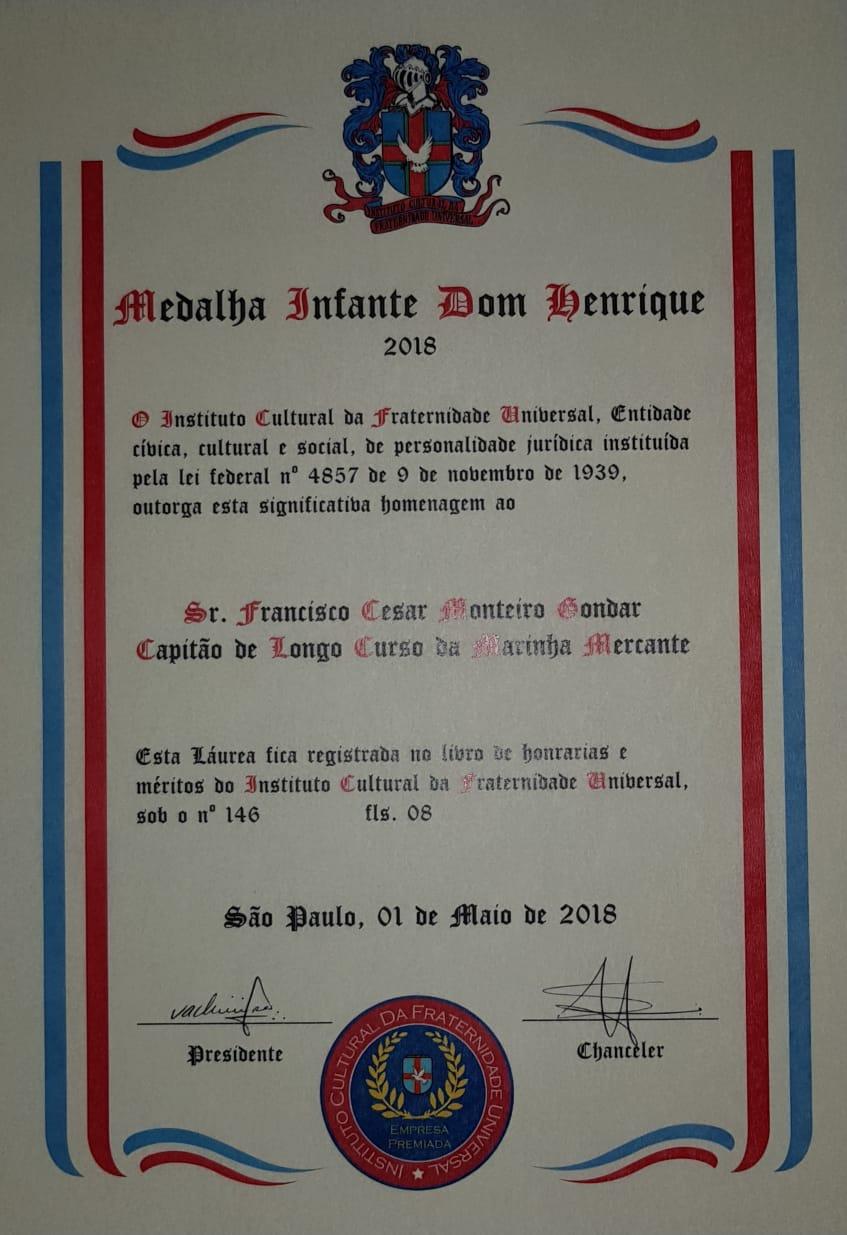 Medalha Infante Dom Henrique 2018