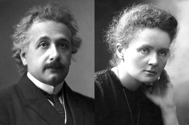 Albert Einstein e Marie Curie