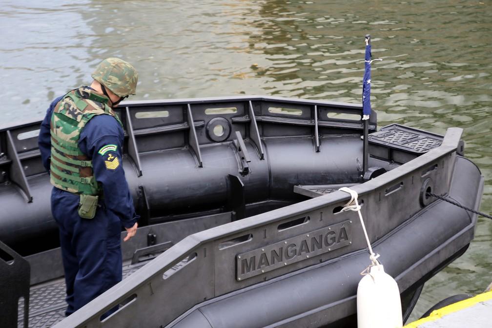 'Mangangá' refere-se, segundo a Marinha, à espécie de peixe-pedra, que tem espinhos — Foto: José Claudio Pimentel/G1